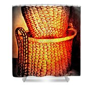 Two Baskets Shower Curtain