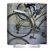 Two Bicycles Shower Curtain