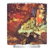 Two Blue Palms Shower Curtain