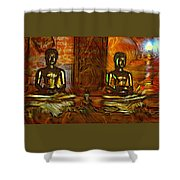 Two Buddhas Shower Curtain