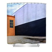 Two Buildings Shower Curtain