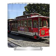 Two Cable Cars San Francisco Shower Curtain
