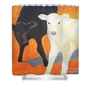 Two Calves Shower Curtain