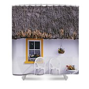 Two Chairs Outside A Cottage, County Shower Curtain