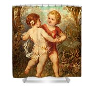 Two Cherubs Shower Curtain