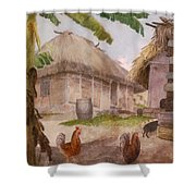Two Chickens Two Pigs And Huts Jamaica Shower Curtain