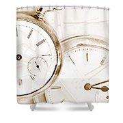 Two Clocks Shower Curtain