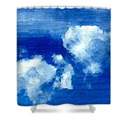 Two Clouds In The Sky Shower Curtain