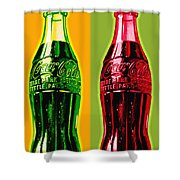 Two Coke Bottles Shower Curtain by Gary Grayson