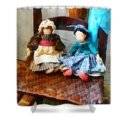 Two Colonial Rag Dolls Shower Curtain