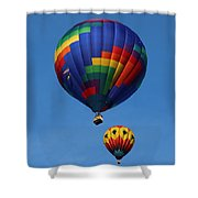Two Colorful Balloons Shower Curtain