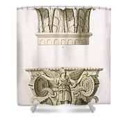 Two Column Capitals Shower Curtain