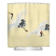 Two Cranes Shower Curtain