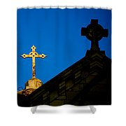 Two Crosses In Jerusalem Shower Curtain