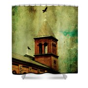 Two Crosses Two Crows Shower Curtain