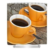 Two Cups Of Espresso Shower Curtain