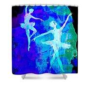 Two Dancing Ballerinas  Shower Curtain
