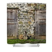 Two Doors On A Barn Shower Curtain