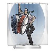 Two Drums Shower Curtain