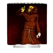 Two Faces Of Death Shower Curtain