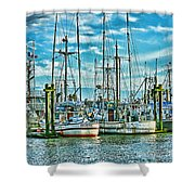 Two Fishing Boats Hdr Shower Curtain