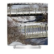 Two Foot Bridges Shower Curtain