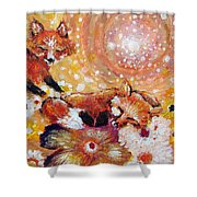 Two Foxes You Have A Friend In Me Shower Curtain