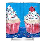 Two Frosted Cupcakes Shower Curtain