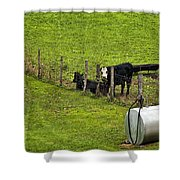 Two Gas Sources Shower Curtain