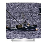 Two Girls And A Buoy Shower Curtain