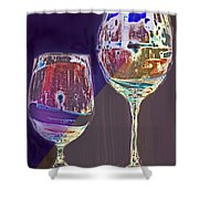 Two Glasses  Shower Curtain