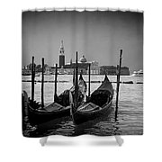 Two Gondolas Shower Curtain