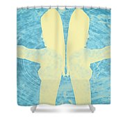 Two Guns Shower Curtain