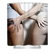 Two Hands Shower Curtain