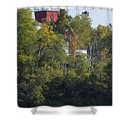 Two Harbors Mn Lighthouse 19 Shower Curtain