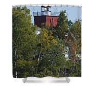 Two Harbors Mn Lighthouse 20 Shower Curtain