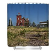 Two Harbors Mn Lighthouse 21 Shower Curtain