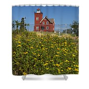 Two Harbors Mn Lighthouse 22 Shower Curtain