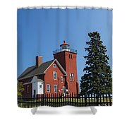 Two Harbors Mn Lighthouse 24 Shower Curtain
