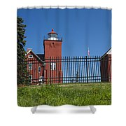 Two Harbors Mn Lighthouse 25 Shower Curtain