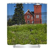 Two Harbors Mn Lighthouse 26 Shower Curtain