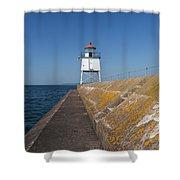 Two Harbors Mn Pier Light 10 Shower Curtain