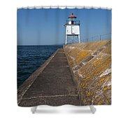 Two Harbors Mn Pier Light 11 Shower Curtain