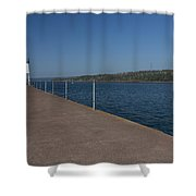Two Harbors Mn Pier Light 12 Shower Curtain