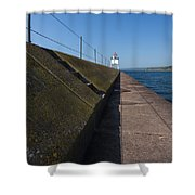 Two Harbors Mn Pier Light 15 Shower Curtain