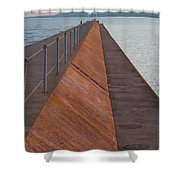 Two Harbors Mn Pier Light 6 Shower Curtain