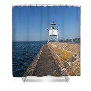Two Harbors Mn Pier Light 8 Shower Curtain
