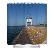 Two Harbors Mn Pier Light 9 Shower Curtain