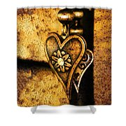 Two Hearts Together Shower Curtain