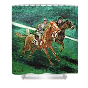 Two Horse Race Shower Curtain
